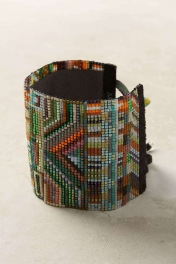 Anthropologie Beaded Tapestry Bracelet