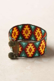 Anthropologie Beaded Brilliance Bracelet