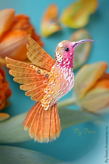 Птицы из ткани мастер класс