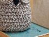Вязаные совы-корзинки