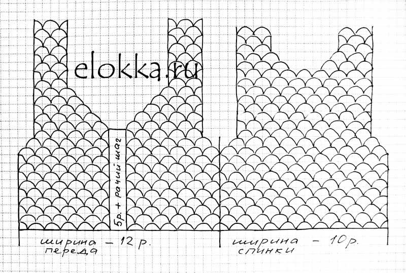 Схема ракушка для лифа