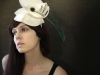 Cream Felt Sculptural Hat by Brianna Kenyon