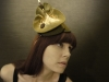 Olive Green Sculptural Felt Hat by Brianna Kenyon