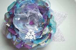 Цветы из органзы – подборка из интернета