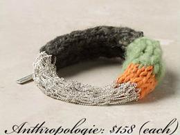 Браслеты: цепочки+вязание