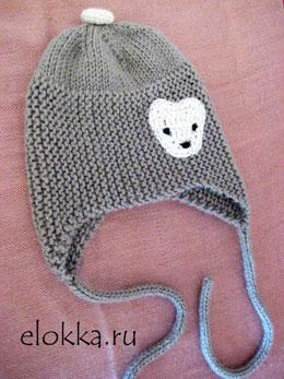 Детская шапочка с завязками